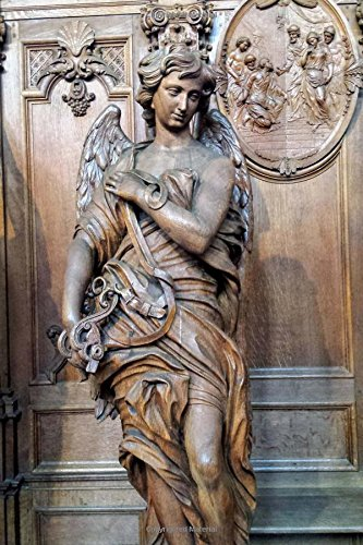 Download An Antique Wooden Angel Sculpture in a Church Journal: 150 Page Lined Notebook/Diary PDF