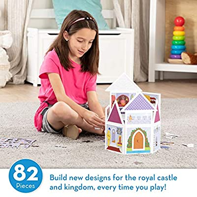 Melissa & Doug Magneticity Magnetic Tiles Building Playset – Medieval Castle (82 Pieces, STEM Toy): Toys & Games