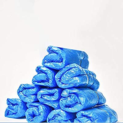 JSPOYOU Shoe Covers Disposable -100 Pack(50 Pairs) Disposable Shoe & Boot Covers Blue: Clothing