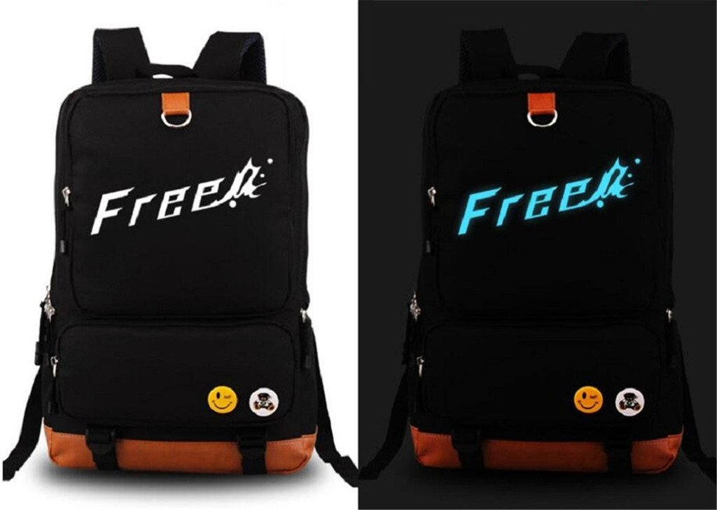 Siawasey Anime Free! Eternal Summer Cosplay Luminous Backpack Shoulder Bag School Bag