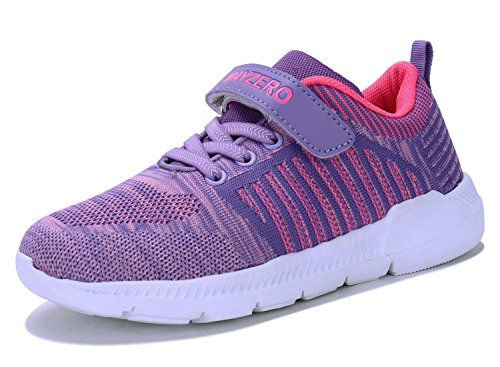 Vivay Kids Boys Tennis Shoes Breathable Athletic Running Sneakers for Girls Purple (Girls Purple Tennis Shoes)