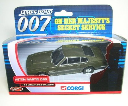 corgi james bond 007 aston martin DBS on her majestys secret service the ultimate bond collection diecast model by Corgi