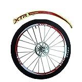 Panda Superstore [RED] Unique Colour XTR 12 Pics Reflective Bike Rim Sticker Wheel Decal Sticker