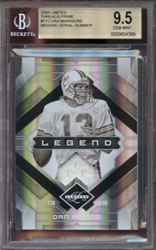 2009 limited threads prime jersey #112 DAN MARINO miami dolphins BGS 9.5 Graded Card (2009 Marine)