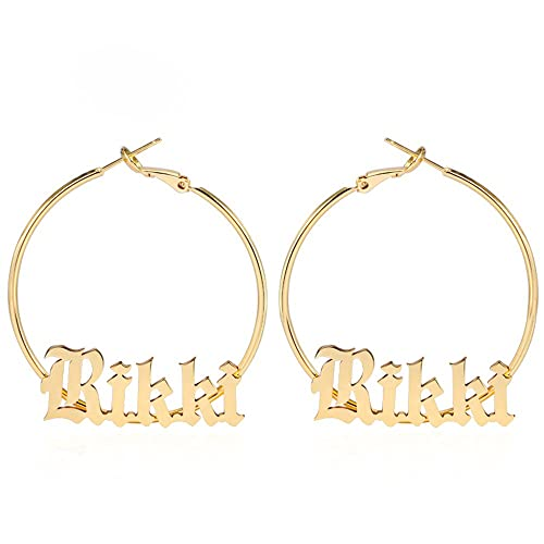 a45b5477c AOCHEE Monogram Hoop Earring Personalized Name Earring Custom Made with Any  Name (#1)