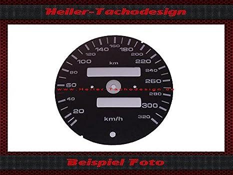 Cuentakilómetros Scheibe Porsche 911 964 993 Turbo Carrera S con cuentakilómetros MPH a kmh: Amazon.es: Coche y moto