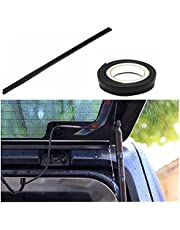 JVMA Wrangler Rear Window Rain Gutter Compatible with Jeep Wrangler 2008-2021 JK/JKU JL/JLU Water Proof Accessories (3.9Ft) Matching Tape