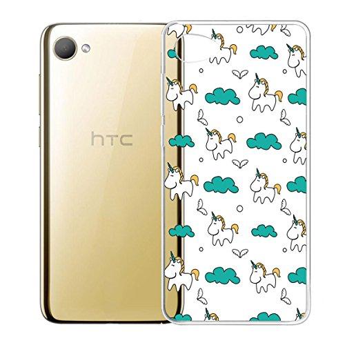 Funda para HTC Desire 12 , IJIA Transparente Adorable Gatito TPU Silicona Suave Cover Tapa Caso Parachoques Carcasa Cubierta para HTC Desire 12 (5.5) (WM104) HX55
