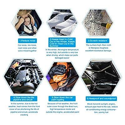 uxcell 394mil 10.76sqft Car Fender Engine Heat Sound Deadener Insulation Mat 79 x 20 Inches: Automotive