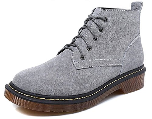 Shoes Ankle Suede grey Classic Women's JiYe Suede Boots IwE5qf4