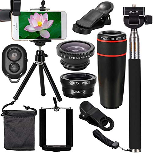 Sasarh Outdoor Practical 8X Magnification All-in-One Mobile Phone Lens Set Accessory Kits from Sasarh