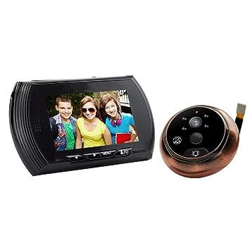 Vbestlife 3MP Viewer de Puerta Cámara de Seguridad IR con Mirilla Gran Angular w/sin Molestar Función Timbre, 4.3 Pulgadas: Amazon.es: Electrónica