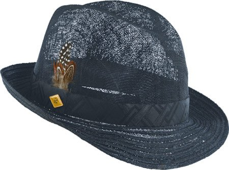 STACY ADAMS Mens Pinch Front Hat