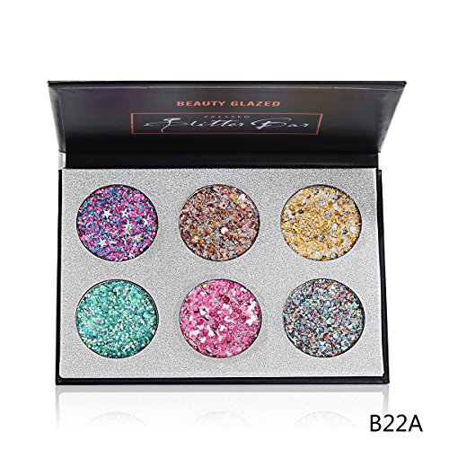 Beauty Glazed 6 Colors Eyeshadow Glitter Pressed Highly Pigm