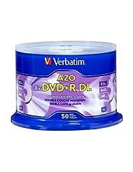 Verbatim DVD+R DL AZO 8.5GB 8x-10x Branded Double Layer Recor...