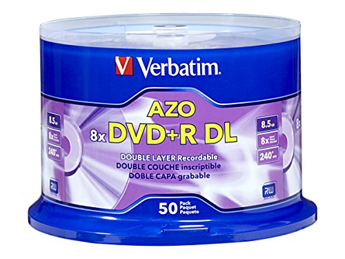 O 8.5GB 8x-10x Branded Double Layer Recordable Disc, 50 Disc  97000 (Dl Dvd Writer)