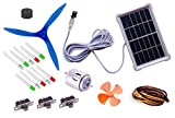 NASA Tech19 items in 1 solar energy kit II Multi-purpose solar educational kit II Solar plate + solar alarm + 10 LEDs + motor + 2 Propeller + wire + 3 switch + instruction manual II Solar Educational learning project kit