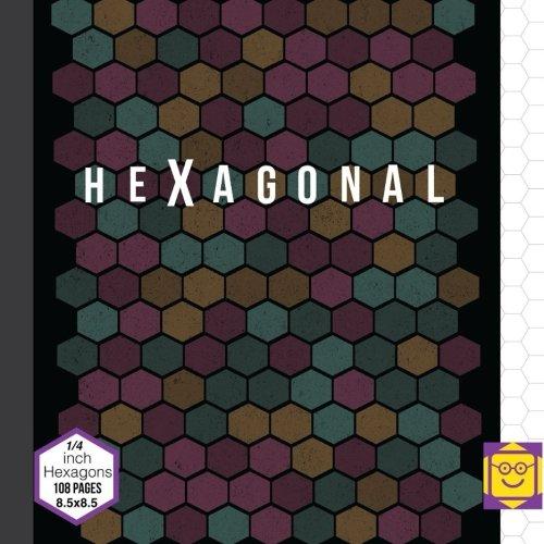 Hexagonal Graph Quarter Inch Hexagons: 108 Pages Graph Paper Hexagon Diameter 0.25 inch (1/4