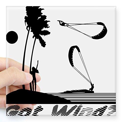 - CafePress Kiteboarding Kitesurfing Square Sticker Square Bumper Sticker Car Decal, 3