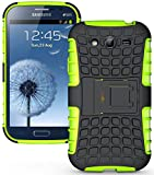 Heartly Armor Rugged Back Case For Samsung Galaxy Grand Duos I9082 / Galaxy Grand Neo Gt-I9060 / Galaxy Grand Neo Plus I9060I - Green