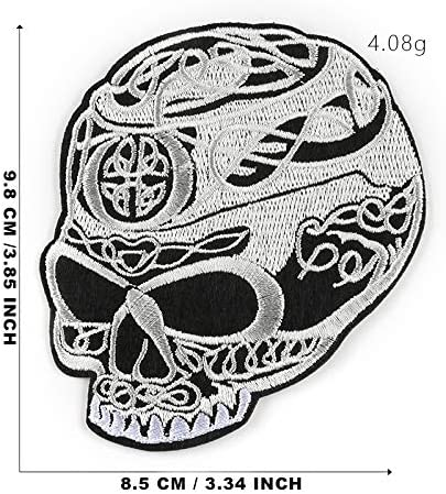 Embroidered Skull Motif // Patch // Badge // Applique- Lots Of Colours inc BLACK :