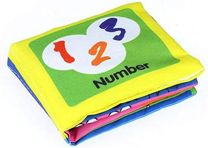 Uokoki Los libros de pa/ño infantil suave susurro de sonido para la Educaci/ón Temprana Sonajero Cochecito de aprendizaje
