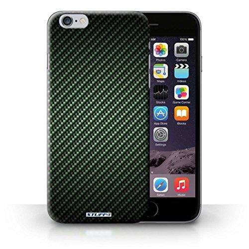 Hülle Case für iPhone 6+/Plus 5.5 / Grün Entwurf / Kohlenstoff-Faser-Muster Collection