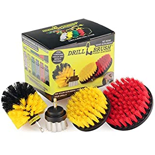 Drillbrush Drill Brush Scrub Brush Drill Attachment Kit - Drill Powered Cleaning Brush Attachments - Time Saving Cleaning Kit – Our Drill Brush Attachment kit is Great for Cleaning Tile and Grout