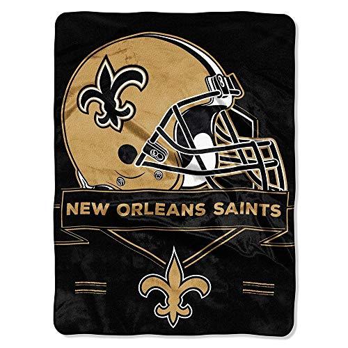 "NFL New Orleans Saints ""Prestige"" Raschel Throw Blanket, 60"" x 80"""