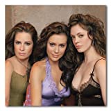 Alyssa Milano, Holly Marie Combs & Rose McGowan Color Matte Photograph (12x12 Inches - Charmed)