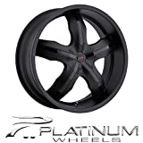 Platinum Widow 18 Black Wheel / Rim 5x120 & 5x4.5 with a 42mm Offset and a 74 Hub Bore. Partnumber 212-8807B