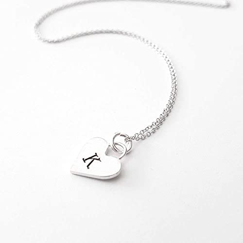 Amazon.com: Personalized Sterling Silver Heart Letter