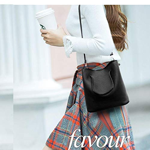 Sac 4pcs à Fashion Sacs Zuionk main Tote Women Fashion bandoulière à Noir Bag vSaPISq