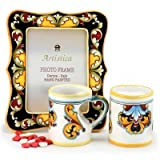 DERUTA VARIO ROSSO: Set of two Love Mugs with matching Picture Frame
