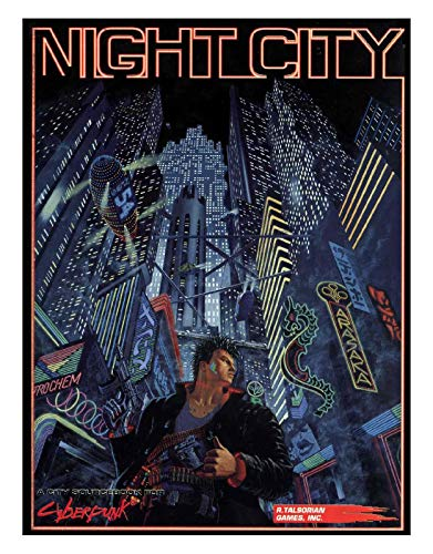 NIGHT CITY. A monster sourcebook containing over 180 jam-packed pages of information on the definitive CYBERPUNK setting, and a large poster map. Hit the CONTROLLED URBAN ZONES with 3D maps and detailed, building by building descriptions to match. Ea...
