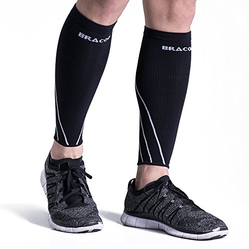 Bracoo Calf Compression Sleeves, Maximized Athletic Performance, Minimized Shin Splints
