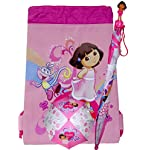 Dora the Explorer Girls Umbrella and Drawstring Bag