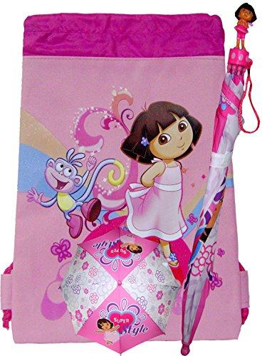 (Dora the Explorer Girls Umbrella and Drawstring)