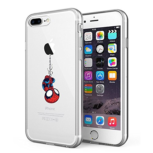 Litech™ Case for Apple iPhone 7 Plus (2016) / iPhone 8 Plus (2017) [FlexFit] Marvel DC Comic Hero Inspired Series [Premium Scratch-Resistant] (Spider Man)