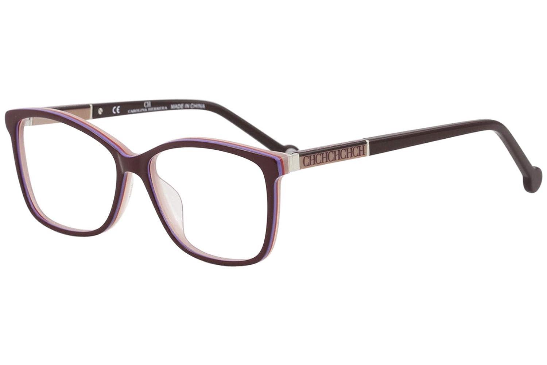 e8ff4b61cb3 CH Carolina Herrera Eyeglasses VHE672K VHE 672K 0M56 Burgundy Optical Frame  54mm at Amazon Men s Clothing store