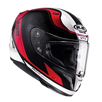 Casco para motocicleta HJC RPHA 11 Riomont MC1, negro/blanco/rojo, talla