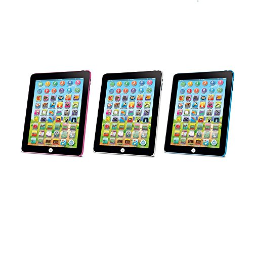 JSPOYOU Kids Children Tablet IPAD Educational Learning Toys Gift for Girls Boys Baby