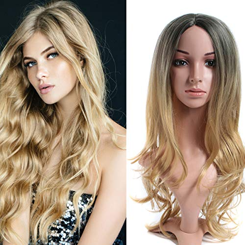 Wave Lace Front Wig Long Synthetic Wigs Anime Cosplay Costume Party Full head Halloween Hairpieces for Women -