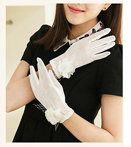 formanism フェミニン フォーマル 日焼け止め 大きめポイント フラワー サマー手袋 レディース (C)