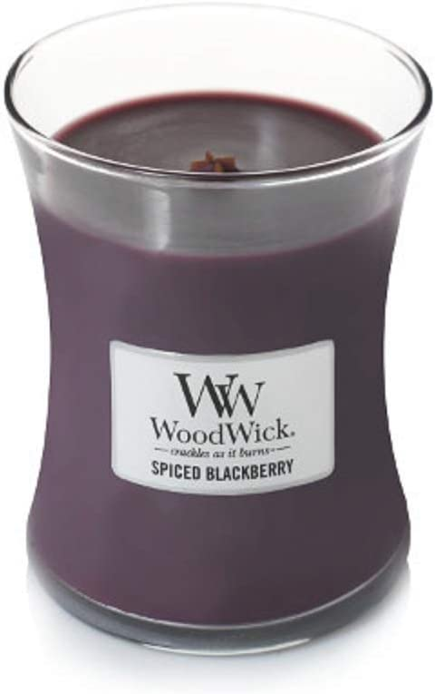 WoodWick 92078 Scented Candle, Spiced BlackBerry, 9.7oz