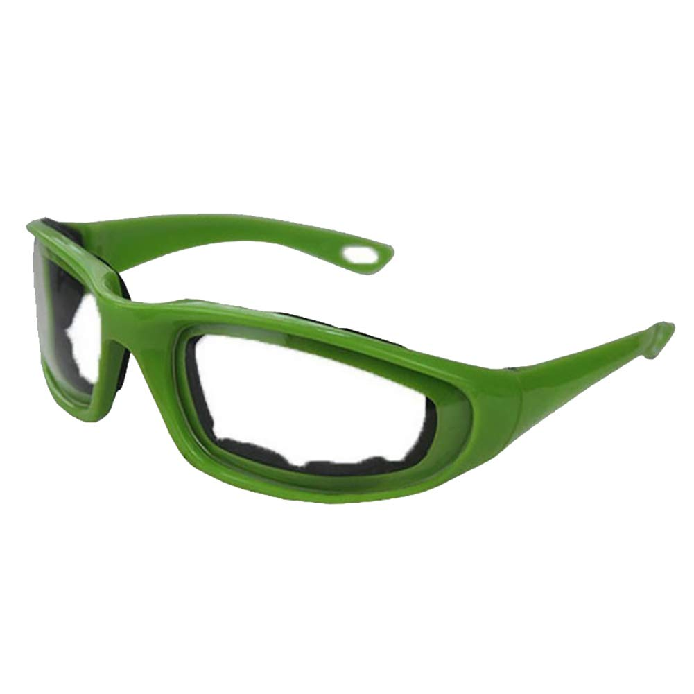 eroute66 Tears Free Onion Goggles Glasses Built In Sponge Kitchen Slicing Eye Protect Green by eroute66 (Image #2)
