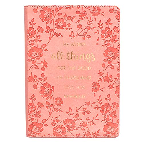 (All Things For The Good Pink LuxLeather Journal - Romans 8:28)