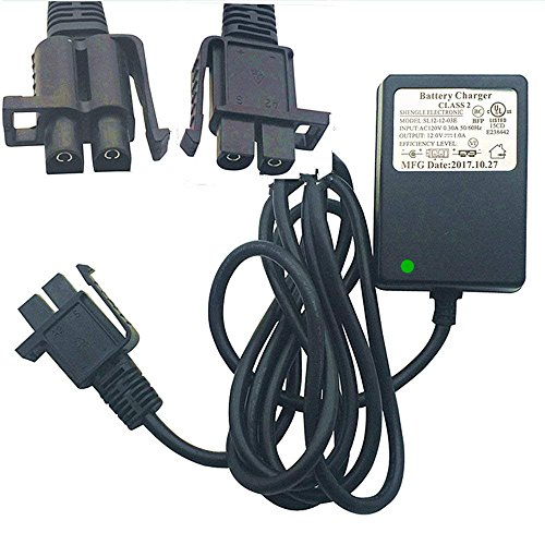 12 Volt Charger Works with Yamaha Raptor 700R Toyota FJ Cruiser MegaTredz Motion Trendz, 12V Battery Charger B-Type Plug Fit Ride On Peplacement ()