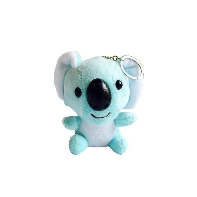 Vektenxi - Mini Koala de Peluche de 10 cm, Llavero Azul ...