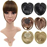Beauty Wig World Black Synthetic Clip-in Hair Bang Full Fringe Short Straight Hair Extension